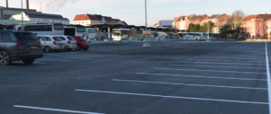 Bus terminals and parking zones on peripherals